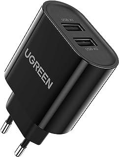 UGREEN USB Ladegerät mehrfach 3.4A Ladestecker USB 2 Ports mit intelligent Technologie USB Netzteil kompatibel mit iPhone ...