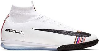 Nike Men's Superfly 6 Elite IC Indoor Soccer Shoes (Platinum/Black-White)