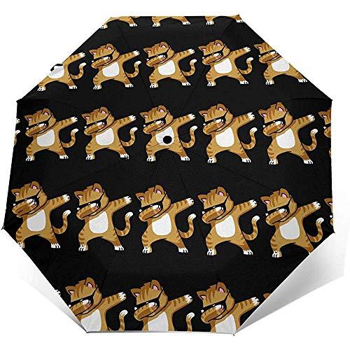 Coole Katze Automatic Tri-Fold Umbrella Sonnenschirm Sonnenschirm Sonnenschirm