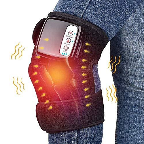 Elektrisch beheizte Massage Kniebandage Wrap, 3 in 1 wiederaufladbar beheizt und Vibration Knie Heizkissen Unterstützung für Knie Schulter Ellenbogengelenk Verletzung Krämpfe Arthritis Schmerzlinderun