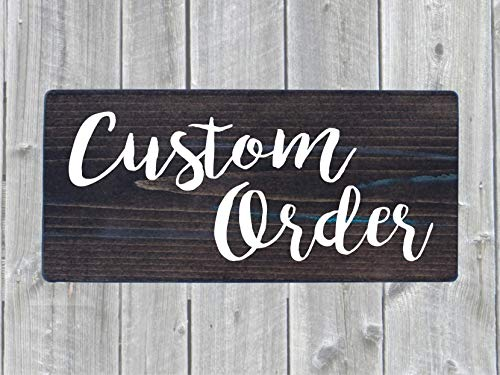 Custom Text Rustic Farmhouse Wooden Sign Choose Size