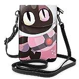 Bolso ligero del teléfono celular de la PU, pequeñas estrellas rosadas, bolso del hombro de la cartera del bolso del bolso del bolso del Pounch para las mujeres