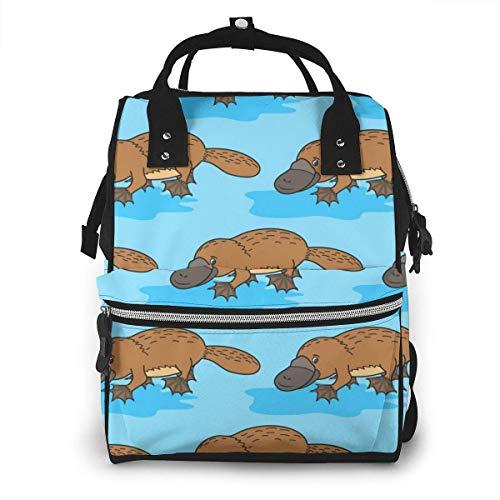 JUKIL Mochila de pañales Funny Platypus Diaper Bag Backpack