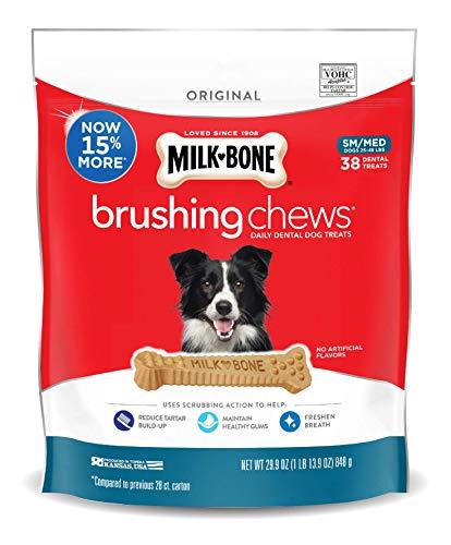 pet supplies inc dentals Milk-Bone Brushing Chews Daily Dental Treats - Small/Medium Value Pack, 22 Ounce - 28 Bones