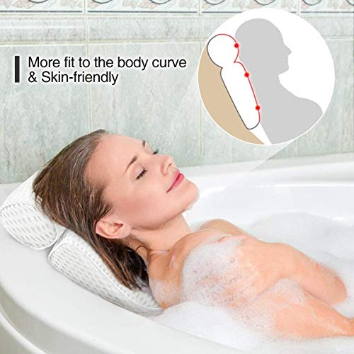 Fitheaven Bath Pillow for Bathtub, Hot Tub, Jacuzzi and Home Spa. Spa Pillow for Women