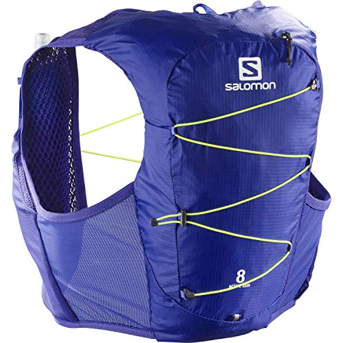 Salomon Active Skin 8 Chaleco de hidratación Unisex con SensiFit y construcción Quick Link para trail running