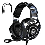 VANKYO Gaming Headset CM6600, 4D Surround Sound Environmental Noise Cancelling Microphone & LED Light Over-Ear Headphones Compatible with PC, PS4, PS5, Switch, Xbox One Controller, Laptop, Mac
