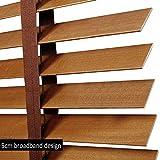 WENZHE Holzjalousie Jalousien Fenster Sichtschutz Holz Jalousette Rollos Klinge 35 / 50mm Zuhause Büro Sonnenschirm - Größe Anpassbar (Color : 50mm, Size : 140x160cm)