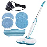 Zennox Cordless Hard Floor Cleaner & Polisher, Electric Spray Mop with Rotating Pads