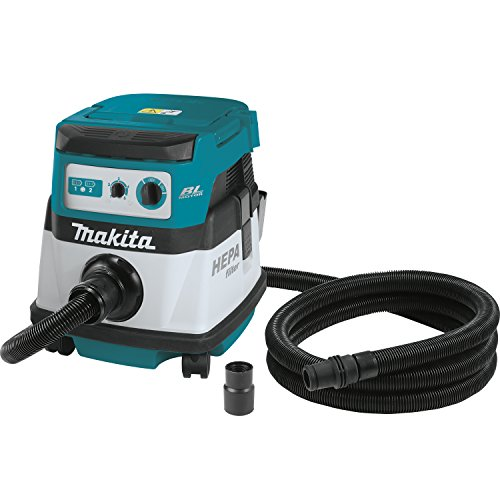 Makita XCV07ZX 18V X2 LXT Lithium-Ion Brushless Cordless 2.1 gallon HEPA Filter Dry Dust Extractor/Vacuum - Tool Only