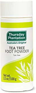 Thursday Plantation Tea Tree Foot Powder, Helps Prevent Foot Odor and Sweat, 3.5 Ounces