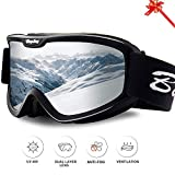 BangLong Ski Goggles, Snowboard Goggles Over Glasses Snow Goggles Anti Fog UV Protection OTG Design for Men Women Skating, Skiing,...