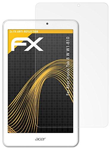 atFolix Panzerfolie kompatibel mit Acer Iconia Tab 8 W W1-810 Schutzfolie, entspiegelnde & stoßdämpfende FX Folie (2X)