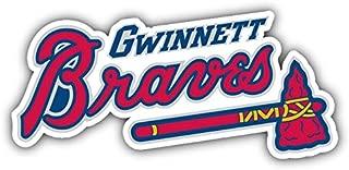 qualityprint Gwinnett Braves MiLB Minor Baseball Combo Sport Decor Bumper Vinyl Sticker 6'' X 3''