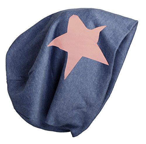 Brubaker Slouch Bonnet unisexe avec motif étoile automne hiver 2015 Coton mix - Bleu - Taille Unique