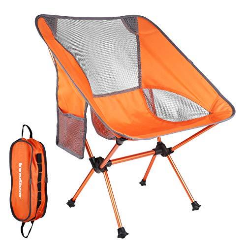InnoGear アウトドアチェア【改良版】お持ち運びやすい 折り畳み式 オレンジ