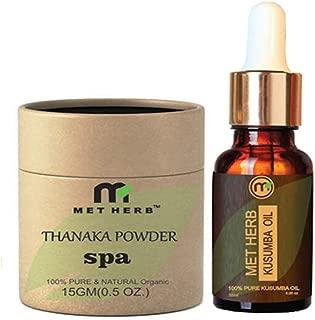Metherb Thanaka bark powder & Kusumba (safflower) oil for permanent hair removal (15+15)
