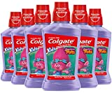 Colgate Kids Mouthwash with Anticavity Fluoride for Cavity Protection, Bubble Fruit, Trolls - 500 mL, 16.9 fluid ounce (6 Pack)