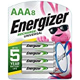 Energizer Rechargeable AAA Batteries, 700 mAh NiMH, Pre-charged, Chargeable for 1,000 Cycles, 8 Count...