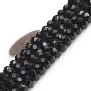 JOE FOREMAN Black Tourmaline Spacer Gemstone Beads for Jewelry Making 15