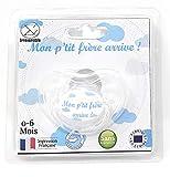 Chupete para bebé para regalar en regalos para anoncer a tu novio - Idea original para mujer, altavoz de 0 a 6 meses, normas francesas y europeas, regalo de nacimiento