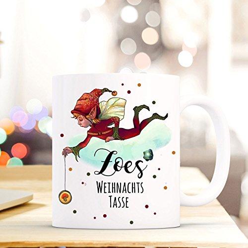 ilka parey wandtattoo-welt Tasse Becher Wichtel Elfe Spruchbecher Geschenk Motto Zitat Weihnachtstasse Name Wunschname ts566