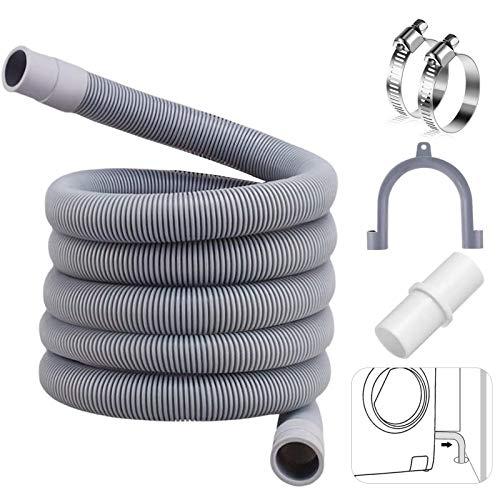 Ablaufschlauch für Waschmaschinen,3M Ablaufschlauch,Ablaufschlauch für Spülmaschinenschlauch,Ablaufschlauch Verlängerung,Abwasserschlauch Verlängerung,Verlängerung Ablaufschlauch