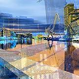 StadtKUNST - das Original: Bild auf Aluminium Hafen Münster Format 37x37