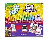 Crayola Pets-64 Pastelli a cera di alta qualità fascettati singolarmente, la confezione i...