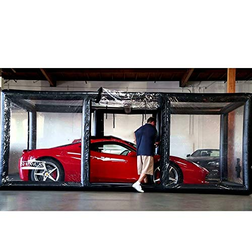 SUQIAOQIAO Mejor Techo Interior plazas de Garaje Tienda Inflable de 5,5 ml de vehículo automóvil cápsula escaparate portátil Coche Tienda Inflable para la Venta