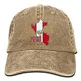 109 Gorra de béisbol Peruvian Pride Map of Perú Mujeres Gorra de béisbol ajustable Plain Cap