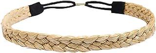 Bodhi2000, cerchietto per capelli da donna, intrecciato, intrecciato, in paglia