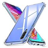 deconext Funda Samsung A70,Carcasa Plustectora Delgada y Transparente con Refuerzo en Las Esquinas Parachoques y Resistente a Arañazos TPU Flexible para Samsung Galaxy A70(2019) 6,7' Claro