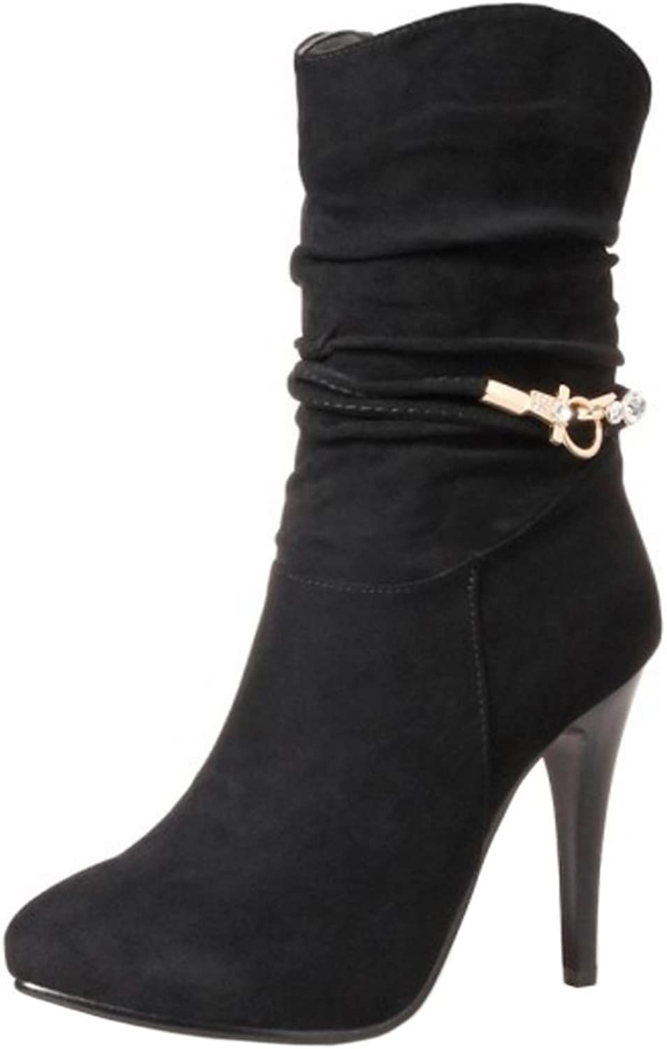 KemeKiss Women Fashion Stiletto High Top Boots shoes with Zipper