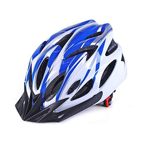 Casque de protection pour le cyclisme Casque de vélo Casque d'extérieur PC Shell Route de moulage intégré vélo Hommes Femmes équitation Équipement de protection Casque de protection (Couleur: 02Blue-F