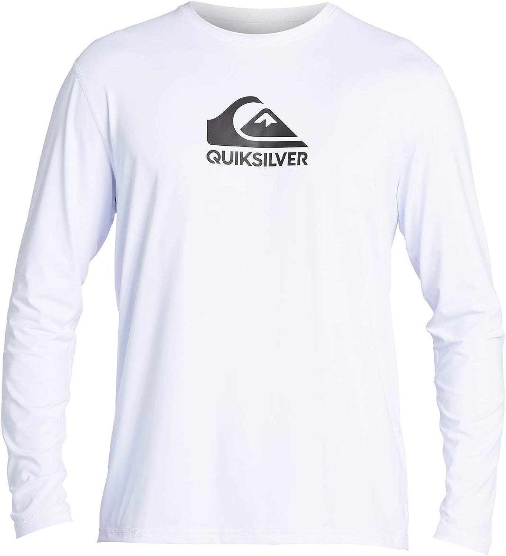 Quiksilver Men's Solid Streak Long Sleeve Rashguard UPF 50 Sun Protection Surf Shirt : Clothing, Shoes & Jewelry