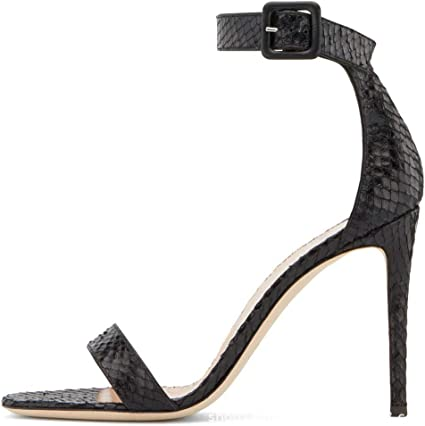 Amazon Com Bhm High Heels Women S Sandals Black Sexy Simple Open Toe Ladies Large Size High Heel Sandals Fashion Women S Shoes Heel Height 8cm Sports Outdoors
