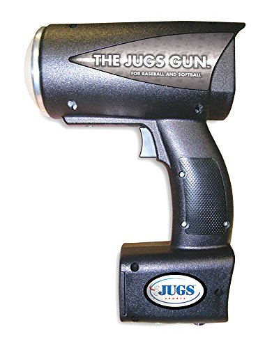Jugs Gun — Sports Radar Gun has an Accuracy Index of ±0.5 mph. Measures Both MPH and KPH and has a Speed Range of 5-140 mph (8-224 kph). Range is up to 300 ft.