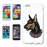 Reifen-Markt Hard Cover - Funda para teléfono móvil Compatible con Samsung Galaxy S3 Mini Perro del Doberman CRIANZA CASA Perros Perrera DE CRIADORES DE Perrito CU
