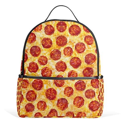 Pizza Backpack School Bookbag for Girls Boys Kids