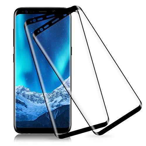 Carantee Panzerglas Schutzfolie für Samsung Galaxy S8, Anti-Fingerabdruck Panzerglasfolie Folie, 3D Vollständige Abdeckung, 0,33mm Dünn, 9H Härtegrad, Anti-Kratzen Displayschutzfolie