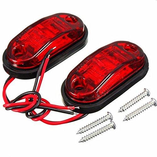 Xingyue Aile buitenverlichting & speelparaties 2W rode zijdelingse markering verlichte lampen 10~30 V (2 stuks) voor auto-vrachtwagen-aanhanger-plastic auto-zijmarkeringslampen/rem-signaal-decoratie-