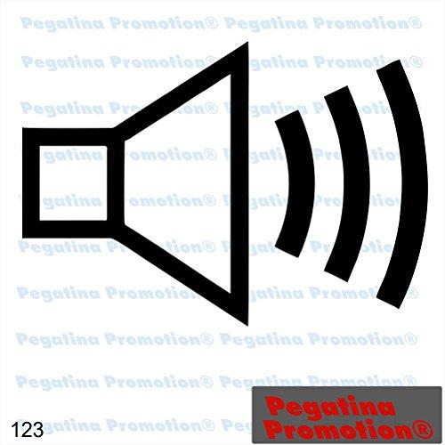 Piktogramm Typ 123 Icon Symbol Zeichen Lautsprecher Lautstärke Mikrofon Aufkleber Sticker ca.15cm von Pegatina Promotion® Aufkleber mit Verklebehilfe von Pegatina Promotion® ohne Hintergrund geplottet