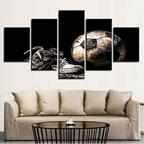 Gstbgbr Wandkunst Poster Modulare Rahmen Leinwand Moderne 5 Panel Sport Fußballschuhe Wohnzimmer Dekorative Kunstwerke Bild Malerei kinderzimmer