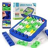JUEJIDP Brain Puzzle Maze Race Track Game Toy Rompecabezas de Pensamiento lógico Juego de Laberinto Juguete Educativo temprano para Varias Personas para niños Juguete de Pista para Adultos