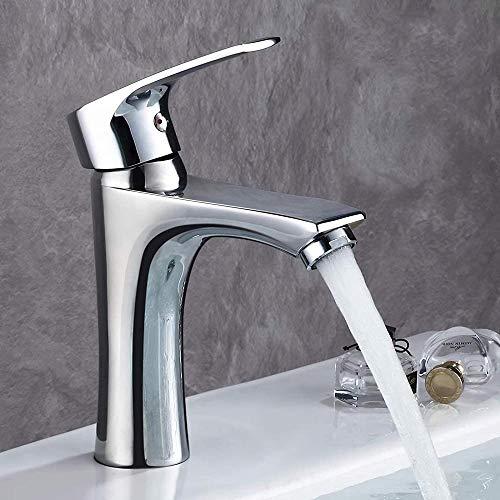 SDFD Faucet de Lavabo de baño Mezclador de Lavabo de baño con una combinación innovadora de una Sola Palanca de líneas Rectas y Curvas Aeroador Premium en ABS de latón Cromado.