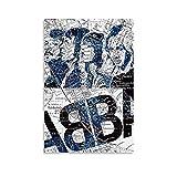 ABBA Stockholm-Karte, Kunst-Poster auf Leinwand,