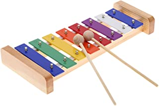 comprar comparacion Andoer® Xilófono 8-Note, Glockenspiel Madera de Pino Colorido Placa de Aluminio C Tecla Percusión Toddle Juguetes Musicale...