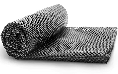 Alfombrilla antideslizante techo equipaje - Estera para maletero - Alfombrilla Felpudo contra la suciedad para coche (coche), se puede cortar universal 100 x 90cm, Negro
