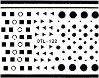 ネイルシール ワンポイント [丸 三角 四角] エスニック 選べる4種類 (ブラックMB, 44)